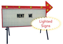 Lighted Portable Sign